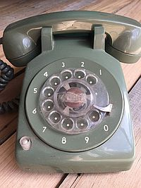 Old Green telephone no phone when I was 7